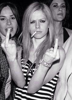 Lavigne finger Avril dirty