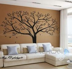Image of Giant Family Tree Wall Stickers Vinyl Art Home Photo Decals Room Decor Mural Anniversary Wedding Valentines Day Gift Metal Tree Wall Art, Vinyl Wall Art, Sticker Vinyl, Vinyl Decor, Wall Décor, Wood Wall, Family Tree Wall Sticker, Family Wall, Nursery Decor