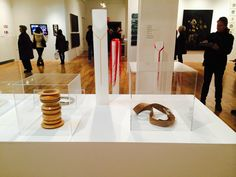 Ex Ovo jewelry display at Pratt institute exhibit  blurred lines.