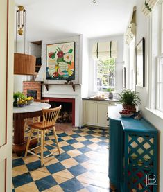 Painted Floorboards, Painted Floors, Painted Wood, Beata Heuman, Cosy Home, Interior Design Companies, Home And Deco, Interior Inspiration, Home Kitchens