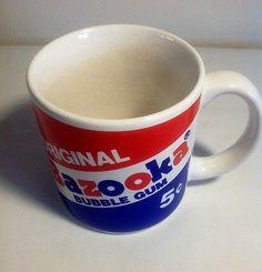 Vintage Bazooka Bubble Gum Mug 1988 Mug Cup Drink Advertising Bazooka Bubble Gum, Mug Cup, Bubbles, Advertising, Mugs, Drinks, Tableware, Ebay, Vintage
