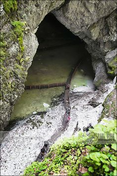 Scărișoara Cave | The Entrance. You need to go that way down-down-down... But it's a really nice cave. www.romaniasfriends.com Turism Romania, Visit Romania, Romania Travel, Bucharest Romania, Places To Travel, Places To See, Places Around The World, Around The Worlds, Carpathian Mountains
