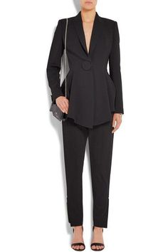 Givenchy - Tapered Pants In Black Stretch-crepe - FR38