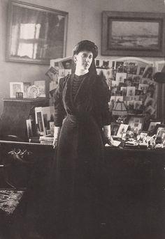 Princess Ingeborg( neé of Denmark), Duchess of Vastergotland , in mourning. 1900s.
