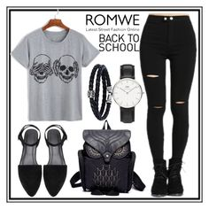 """Romwe 1. /2"" by b-necka ❤ liked on Polyvore featuring Phillip Gavriel, Daniel Wellington and romwe"