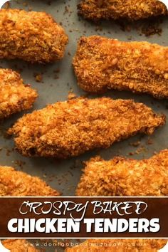 Crispy Baked Chicken Tenders Here I'll show you the secrets to getting extra crispy chicken tenders in the oven. Easy to make and bursting with flavour, these breaded chicken tenders are the ultimate finger food! Oven Baked Chicken Tenders, Crispy Oven Baked Chicken, Baked Chicken Fingers, Home Made Chicken Tenders, Best Breaded Chicken Recipe, Breading For Chicken, Bake Chicken In Oven, Recipes With Chicken Tenders, Baked Chicken Tenders Healthy