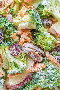 Broccoli Salad Recipe with Creamy Lemon Dressing (VIDEO)Really  Mein Blog: Alles rund um die Themen Genuss & Geschmack  Kochen Backen Braten Vorspeisen Hauptgerichte und Desserts
