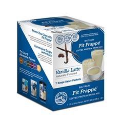 For those who like a little kick of caffeine to go with a classic flavor. #FitFrappe #Vanilla #Latte #ProteinDrinkMix