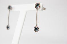 $732 Dream collection, 18k white gold with Iolita and gemstones #dream #earrings #whitegold #fashion #jewelry