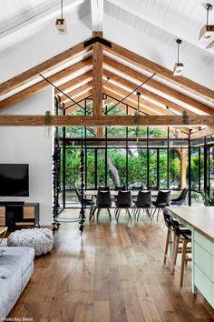 House, Kibbutz Shaar Hagolan - Fineshmaker - Home , Design Living Room, Living Spaces, Modern Architecture House, Interior Architecture, Home Interior Design, Interior And Exterior, My Dream Home, Future House, House Plans