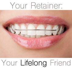 Retainers should be worn as long as you want your teeth to stay straight. Read more about retainers and solutions for shifted teeth! Humor Dental, Dental Hygienist, Orthodontic Humor, Braces Retainer, Dental World, Routine, Emergency Dentist, Teeth Care, Dental Assistant