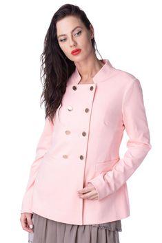 cbb7e1b10a5 YUMI  Sweat Jacket Size 12   M Pink Double Breasted Mandarin Collar   fashion