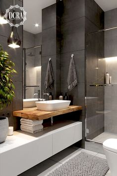 p/dunkles-badezimmer-mit-transparenter-dusche-in-dcr-design-interieur-interiordes delivers online tools that help you to stay in control of your personal information and protect your online privacy. Contemporary Bathroom Designs, Bathroom Layout, Modern Bathroom Design, Bathroom Interior Design, Bathroom Ideas, Bathroom Organization, Bathroom Furniture, Spa Interior, Bathroom Storage