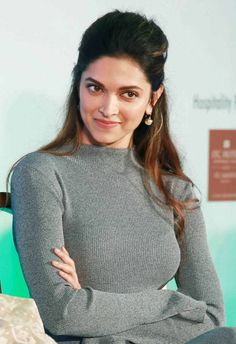 Deepika Padukone at a press conference by Reliance Jio.