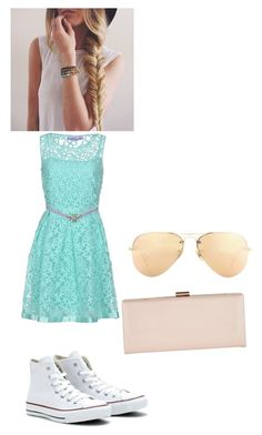 """""""Untitled #23"""" by pizzalove123 on Polyvore featuring 22 Maggio, Converse, Phase Eight and Ray-Ban"""