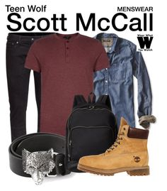 """""""Teen Wolf"""" by wearwhatyouwatch ❤ liked on Polyvore featuring H&M, Banana Republic, Diesel, Marc by Marc Jacobs, Timberland, television, wearwhatyouwatch and menswear"""