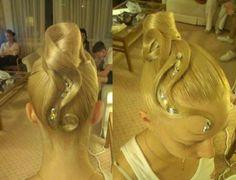 Dancesport hair style.