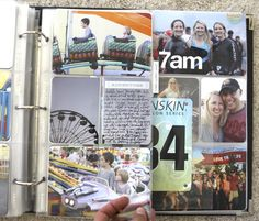 "Ali Writes: Love trimming a 4×6 photo in half that has a lot of ""white space."" That space is great for journaling directly on the photo either with your computer or handwritten using a Slick Writer or American Crafts Precision Pen."