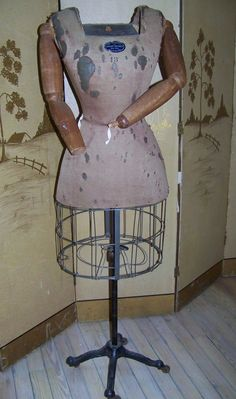 RARE Antique Dress Form w/Articulated Wooden Arms by ParlourGames, $2400.00