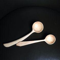 Hawthorn scoops #knifework#spooncarving #hawthorn#spoonsthatlovetobeused