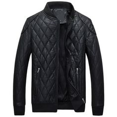 New Autumn Winter PU Leather Jacket Men Fashion Casual Plaid Fleece Faux Fur Thick Warm Coats Motorcycle Leather Jacket Male 4XL
