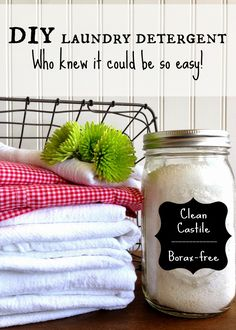 homemade laundry detergent without borax (castile soap, baking soda, washing soda, citric acid, coarse sea salt, oxiclean laundry baby stain soaker, essential oil)