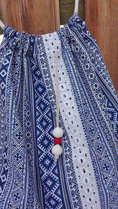 BackPack/Batoh/Vak - modro - biely folk cifrovaný / LuJo - SAShE.sk - Handmade Batohy Boho Shorts, Folk, Backpacks, Women, Fashion, Moda, Popular, Fashion Styles, Forks