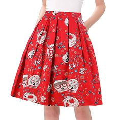 75f2f80b0b Taydey A-Line Pleated Vintage Skirts for Women at Amazon Women s Clothing  store