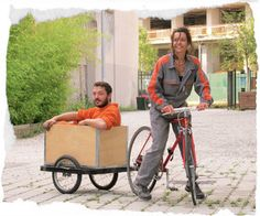 Bicycle trailer for heavy cargo