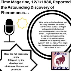 Scientists have confirmed that women who have sex with men at least once a week are more likely to have normal menstrual cycles, fewer infertility problems, and a milder menopause than celibate women and women who have sex rarely or sporadically. Discover how applying Athena Pheromones daily can increase your chance of romantic success, and therefore improve your fertility and health! https://athenainstitute.com/mediaarticles/time12186.html #pheromones #fertility #health
