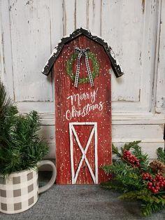 Wooden Christmas Decorations, Christmas Wood Crafts, Christmas Signs Wood, Farmhouse Christmas Decor, Outdoor Christmas, Rustic Christmas, Christmas Projects, Holiday Crafts, Christmas Diy
