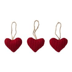 IKEA VINTER 2016 Hanging decoration Heart/textile red