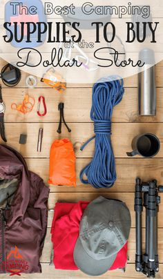 Collection of Dollar Store Frugal Camping Supplies  -Homesteading  - The Homestead Survival .Com
