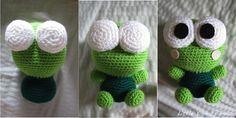 глазки лягушонка амигуруми схема