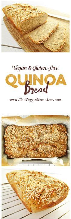 Quinoa Bread. Vegan, gluten-free, oil-free.