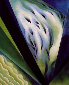 [Now on view in Gallery Georgia O'Keeffe. Blue and Green Music, Alfred Stieglitz Collection, gift of Georgia O'Keeffe. © The Art Institute of Chicago. Alfred Stieglitz, Georgia O'keeffe, Wisconsin, Santa Fe, New Mexico, Georgia O Keeffe Paintings, Arthur Dove, Blue And Green, Green Art