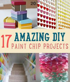 17 DIY Paint Chip Projects and Ideas by DIY Ready at www.diyready.com/18-amazing-diy-paint-chip-projects/