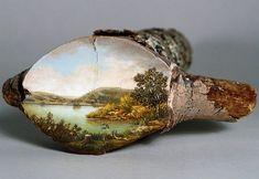 Galho de árvore pintado