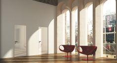 FBP porte   Collezione LIBERA - Colore: laccata brillante bianca #fbp #porte #legno #laccata# alluminio #door #wood #varnish