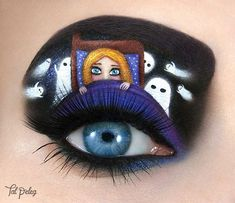 Creative Eye Makeup, Eye Makeup Art, Eye Art, Eyeliner Makeup, Fairy Makeup, Eyeshadow Makeup, Halloween Eye Makeup, Halloween Eyes, Creepy Halloween