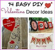 Best and Cute DIY Valentine Decorations for Your Home Valentine Tree, Little Valentine, Valentines Diy, Giant Flowers, Faux Flowers, Heart Banner, Cute Letters, Rustic Candle Holders, Paper Wall Art