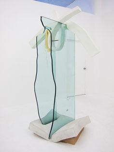 "nyartsmag: ""Dave Hardy, Hunky-dory (2013), glass, cement, polyurethane foam, ink, paper, metal, pretzel,etc 86 x 57 x 33 in. Image courtesy of Regina Rex. """