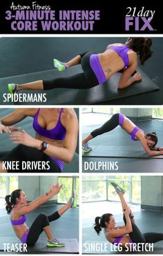 Core Workout from Autumn Calabrese, creator of the 21 Day Fix