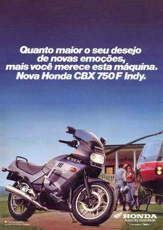12722 - MOTORCYCLE - HONDA 1990 - CBX 750F Indy - Quanto maior o