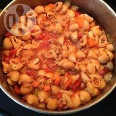 Schnelle Pastasuppe mit weißen Bohnen (Pasta e Fagioli) @ de.allrecipes.com