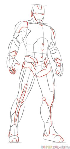 How to draw Iron Man | Step by step Drawing tutorials
