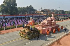 indilivenews: Ayodhya on Rajpath: UP's R-Day tableau showcases r...