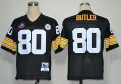 Pittsburgh Steelers 80 Jack Butler Black 2012 NFL Pro Football Hall of Fame Authentic Throwback Jerseys:$21