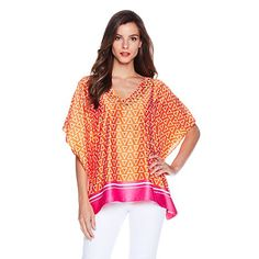 IMAN Global Chic Glam to the Max Fabulous and Flowy Printed Tunic at HSN.com