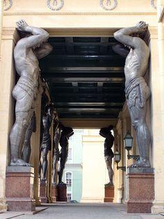 Door found in the Hermitage Museum, St. Petersburg, Russia.